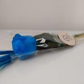 01 Botão de rosa azul com trigo